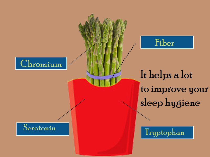 Asparagus Helps you to get a full night quality sleep