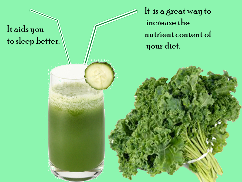 Kale Resource of beneficial nutrients that induces sleep hormones