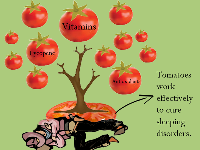 Tomatoes Excellent source of vitamins and antioxidants which regulates your sleep cycle